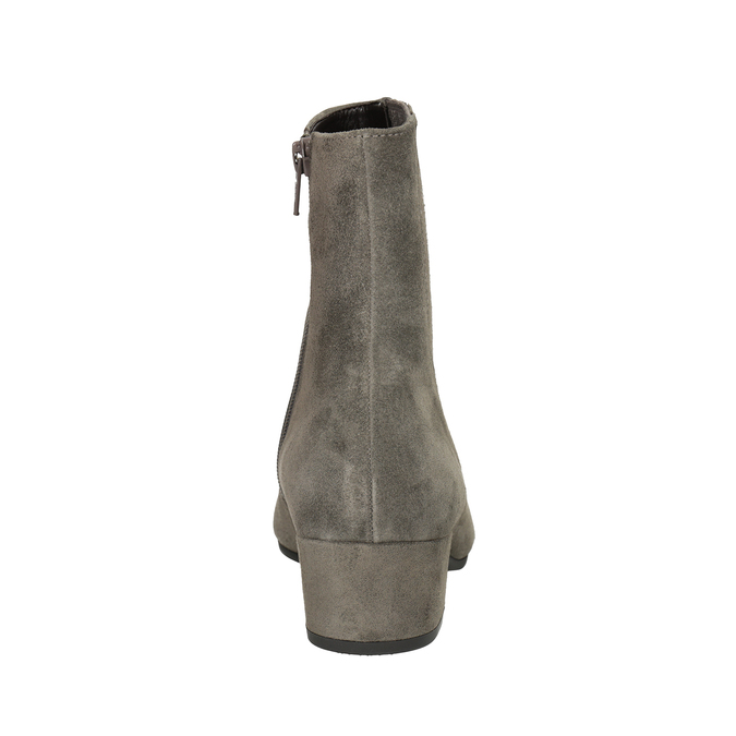 Brushed leather high ankle boots gabor, gray , 613-2022 - 16