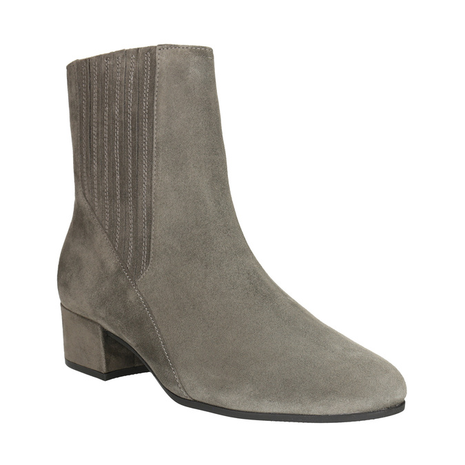 Brushed leather high ankle boots gabor, gray , 613-2022 - 13