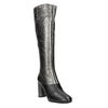 Ladies' Leather High Boots, silver , 796-8027 - 13