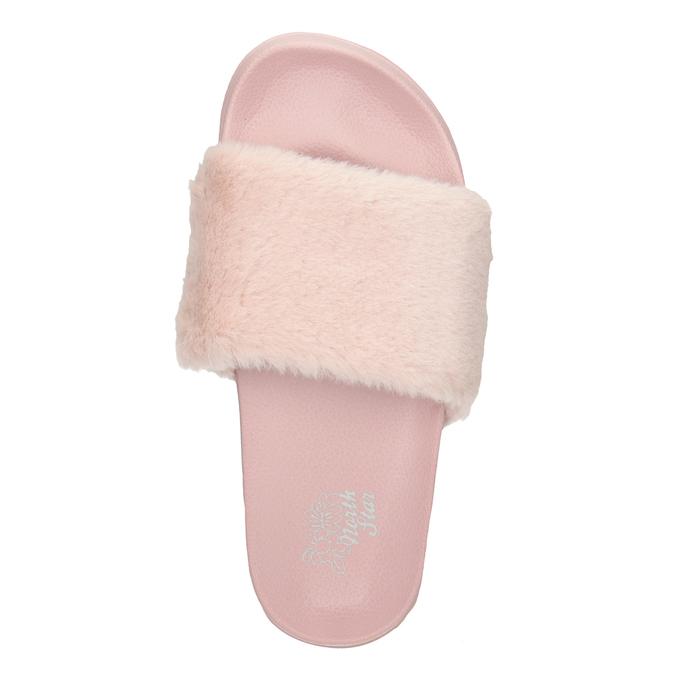 Ladies' pink slippers north-star, pink , 579-5624 - 15