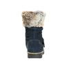 Girls' High Boots with Fur mini-b, blue , 393-9605 - 17