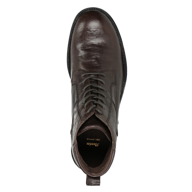 Leather Ankle Boots bata, brown , 894-4694 - 15