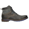 Leather Ankle Boots with Blue Detailing bata, gray , 896-2679 - 15