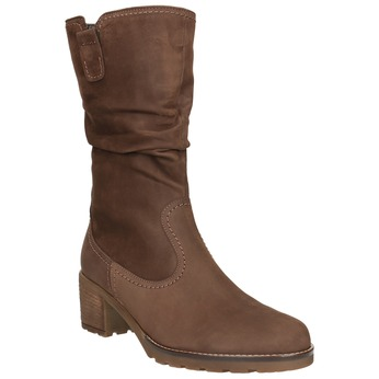 Brown Ladies' High Boots gabor, brown , 796-3151 - 13