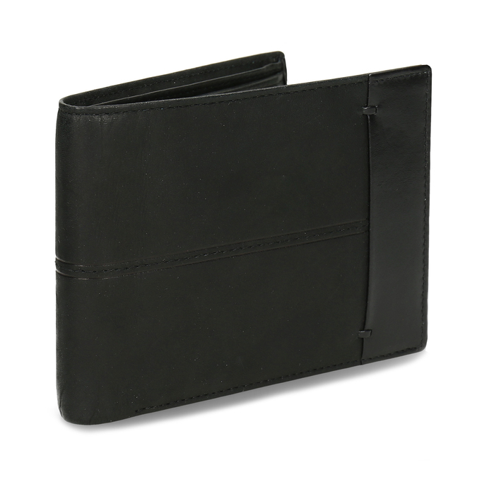 Men's leather wallet bata, black , 944-6188 - 13