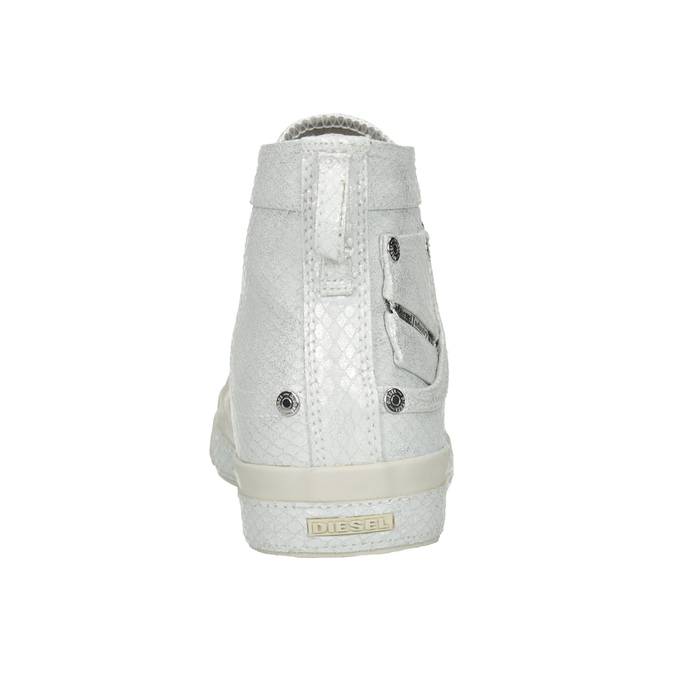 White ankle sneakers diesel, white , 501-6743 - 15