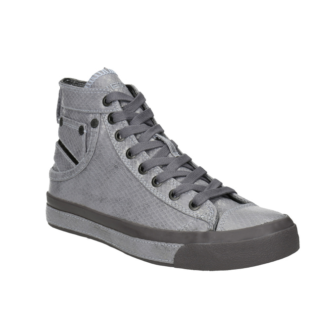 Ladies' ankle sneakers diesel, gray , 501-2743 - 13
