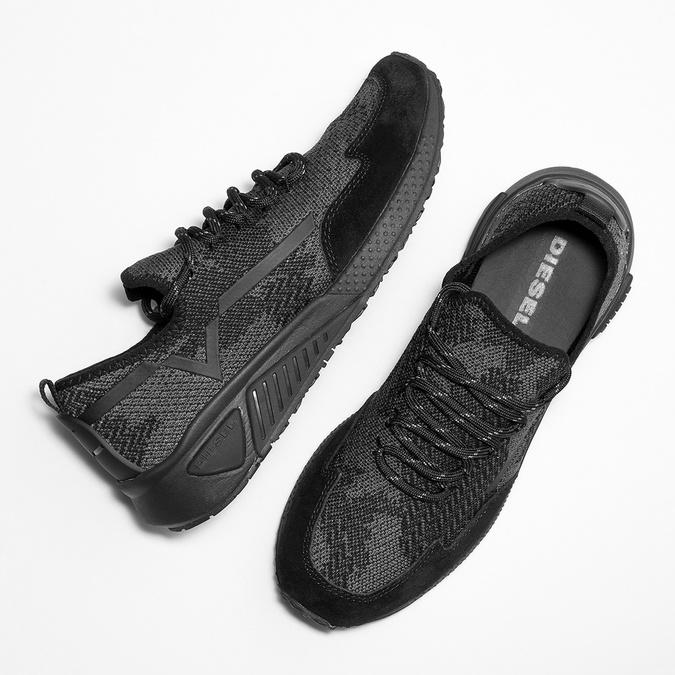 Ladies' sporty sneakers diesel, black , 509-6760 - 26