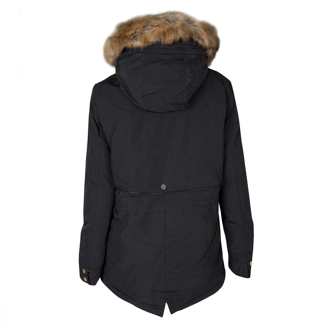 Ladies Parka with Fur bata, black , 979-6177 - 26