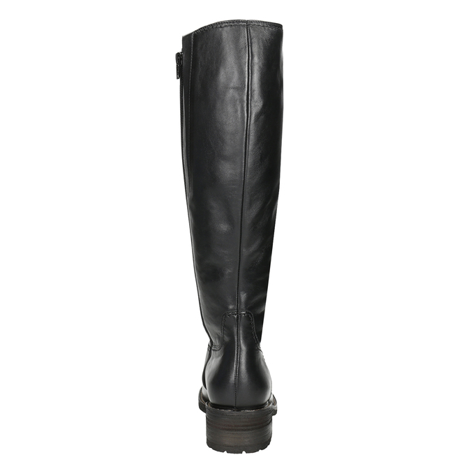 Ladies' Black Leather High Boots gabor, black , 694-6139 - 16