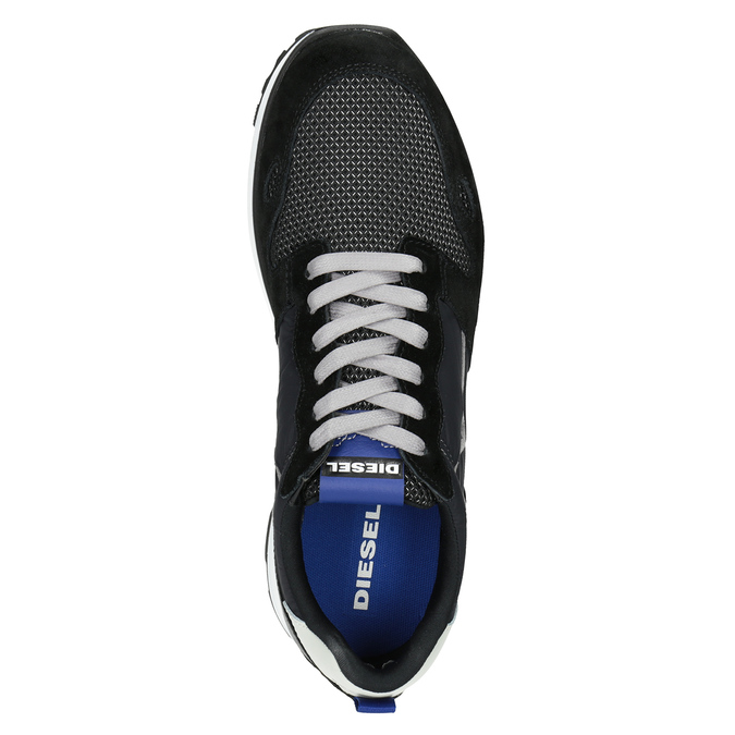 Men's casual sneakers diesel, black , 809-6638 - 15