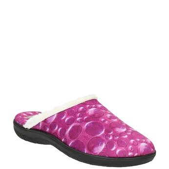 Ladies' pink slippers bata, 579-5622 - 13