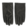 Black leather gloves, black , 904-6130 - 26