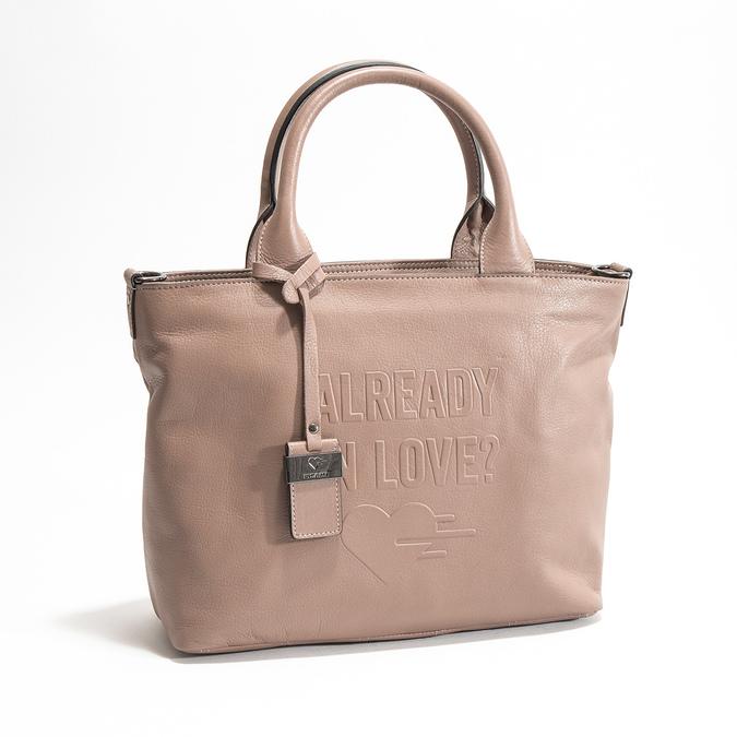 Beige Leather Handbag picard, beige , 964-6080 - 26