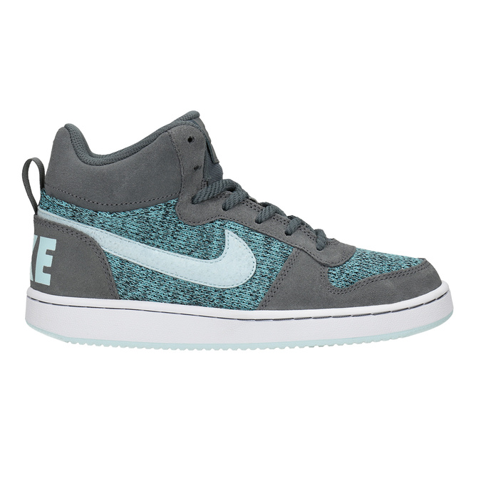 Children's High-Top Sneakers nike, gray , 401-2108 - 16
