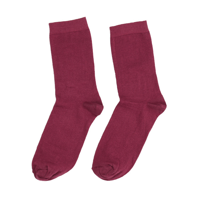 Ladies' Burgundy Socks bata, red , 919-5303 - 26