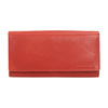 Ladies' red leather purse bata, brown , 944-3203 - 26