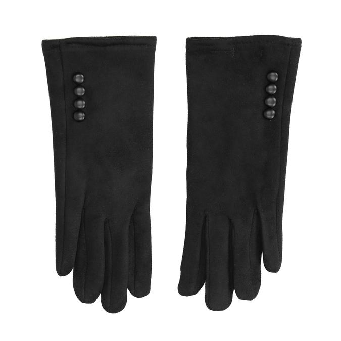 Ladies' textile gloves, black , 909-6612 - 26