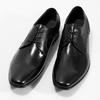 Men's leather shoes bata, black , 824-6758 - 16