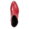 Red high ankle boots bata, red , 594-5665 - 17