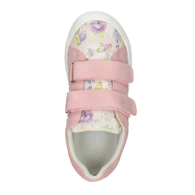 Girls' pink sneakers with a pattern mini-b, 221-5215 - 15