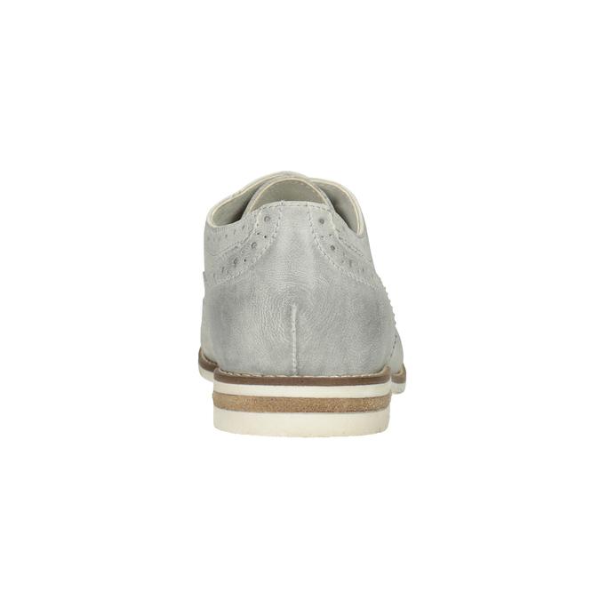 Ladies' leather Brogue shoes bata, white , 526-1649 - 16
