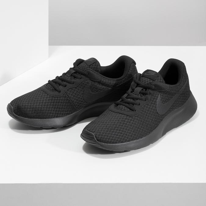 Men's black sneakers nike, black , 809-0557 - 16