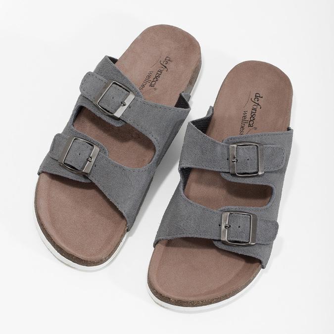 Men's slippers de-fonseca, gray , 873-2610 - 16