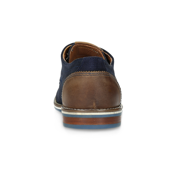 Leather shoes with striped sole bata, blue , 823-9600 - 15