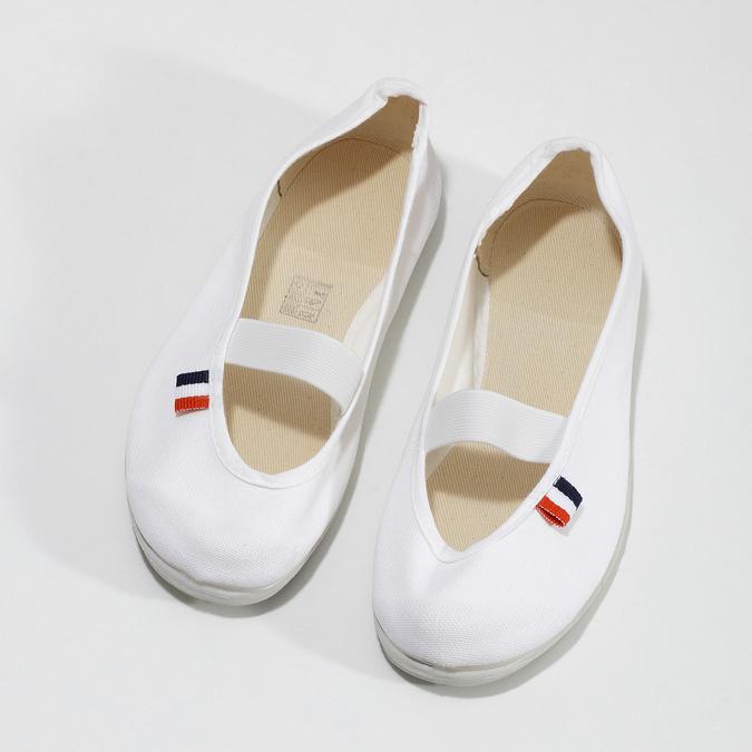 Kids' gym shoes bata, white , 379-1001 - 16