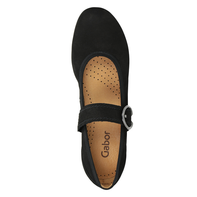 Leather Mary Jane Flats gabor, black , 514-6118 - 17