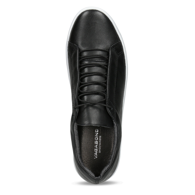 Black leather sneakers vagabond, black , 624-6014 - 17
